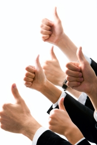 Row of  hands