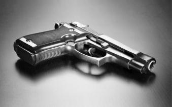 Gun on desk